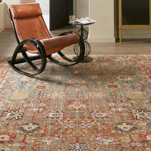 Armchair on Area Rug | Country Manor Decorating