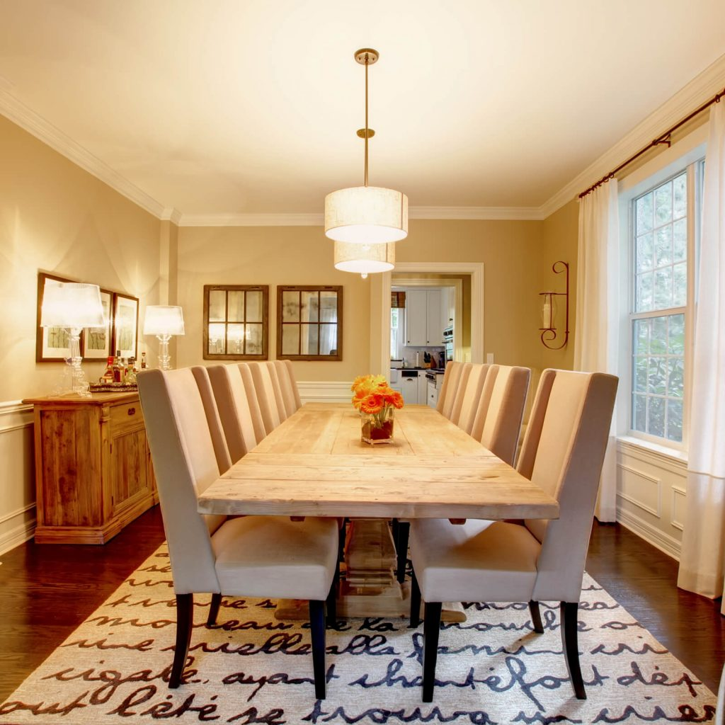 Best Rug for Dining Room | Country Manor Decorating